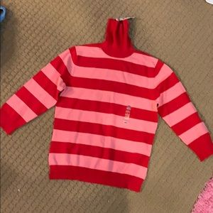 Pink and red  turtleneck sweater!